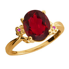2.52 Ct Ruby Mystic Quartz Sapphire Gold Plated 925 Silver Ring