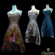Cherlone Satin Sparkle Lace Prom Ball Party Cocktail Bridesmaid Evening Dress