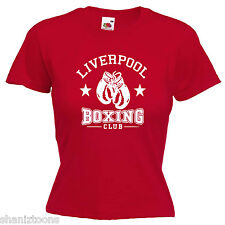 Liverpool Boxing Club Ladies Lady Fit T Shirt 13 Colours Size 6 - 16