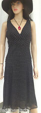 LAURA CLEMENT ligthweight BLACK polka dot wrap style dress UK 8 12 14 18 16 NEW