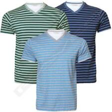 Mens striped t-shirt short sleeve cotton tee top Hutson Harbour TJM 9945