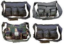 Mens Army Combat Military Travel Shoulder Messenger Pouch Satchel Surplus Bag