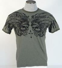 Xtreme Couture Vintage Green Skull Graphic Short Sleeve Tee T Shirt Mens NWT