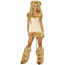 Courageous Lioness Adult Women Sexy Cowardly Lion Furry Animal Halloween Costume