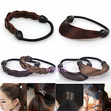 New style 3pcs Faux Wig Plaits Elastic Braid Rope Ponytail Hair beaty Hairpiece