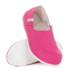 WOMENS HEY DUDE TAORMINA FUCHSIA FLAT LOAFERS DECK SHOES LADIES SIZE 3-8