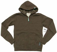 Billabong Juniors Dark Heather Brown Zip Hoodie Jacket NWT