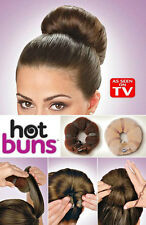 2 pc set HOT BUNS hair style bun maker LARGE & SMALL AS SEEN ON TV  DARK /LIGHT