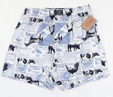 Lucky Brand Blue & White Farm Print Cotton Boxer Underwear Mens NWT