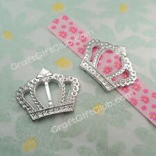 100 - 400 Crown Buckle Ribbon Slider Bridal Party Girl Craft Scrapbook