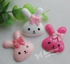 15/60pcs Resin Rabbit Flat back Button Scrapbooking DIY Craft appliques JOB053