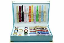 Ladies & Girls Watch Set w 21 Colors Interchangeable Bands & Bezels New