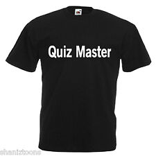 Quiz Master Adults Mens T Shirt 12 Colours  Size S - 3XL