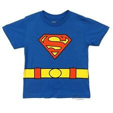 Superman Symbol With Cape DC Comics Licensed Toddler Boys Shirt Size 2T-5T