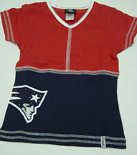NEW Youth Girls REEBOK New England PATRIOTS Blue Red Shirt NFL Team Apparel