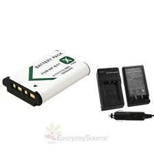 New 1600mAh NP-BX1 Li-ion Battery & Car Home Charger for SONY RX100 RX1 X TYPE