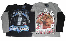 BOYS WWE 2 PACK TOPS LONG SLEEVED UNDERTAKER & REY MYSTERIO