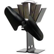 Heat Powered Stove Fan Heater Silent Ecofan UltrAir 810 Gold Nickel Black Blade