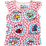 """Dr. Seuss Girl's """"One Fish Two Fish"""" Pink Short Sleeve Shirt- Sizes 12M-4T"""