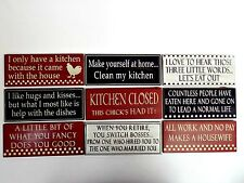 FUNNY SIGNS WOODEN SIGN RED BLACK WHITE HOME DECOR GIFT SHABBY CHIC WALL PLAQUE