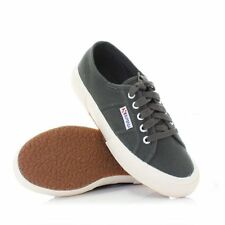 WOMENS MENS SUPERGA GREY CANVAS COTU CLASSIC LACE UP UNISEX TRAINERS SIZE 3-8