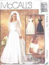 7452 UNCUT McCalls Vintage SEWING Pattern Alicyn Excl. Bridal Gown Wedding
