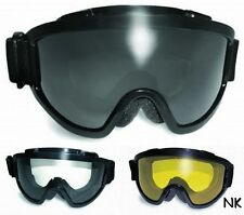 Padded Anti-Fog Motorcycle ATV Goggles-Fit Over RX Prescription Glasses Fitover