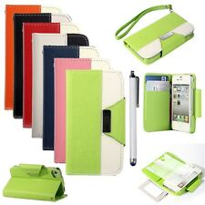 Hot Sale Magnetic Leather Flip Wallet Full Case Cover Stand For iPhone 4 4G 4S