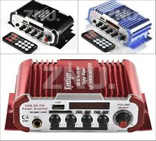 Power 2 CH Mini Hifi Audio Stereo Amplifier For ipod Car Boat Radio Amplifier