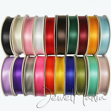 Full Reel Satin Double Faced Sided Premium Ribbon 25 Metres Of 25mm