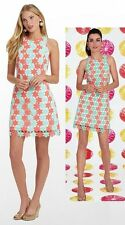 $348 Lilly Pulitzer Pearl Sunrise Orange Two Tone Truly Petal Lace Shift Dress