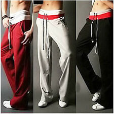 Mens Casual Tracksuit bottoms Sport Rope Sweat Pants Jogging Trousers 5Size B438