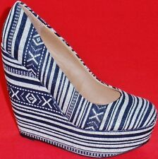 NEW Women's MADDEN GIRL CRAFTTY Black/White Platform Wedge  Ankle Booties Shoes