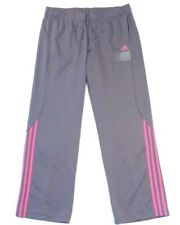 Adidas Agility Dark Gray & Pink Athletic Quick Dry Track Pants Womans NWT