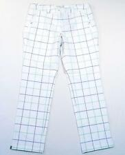 Nike Golf Tour Performance Dri Fit White Windowpane Plaid Golf Pants Women's NWT