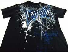 Mens NEW Tapout Black Blue Metallic Distressed Logo Shirt Size S M L XL 2X