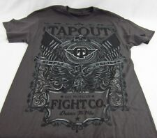 Mens NEW Tapout Wrestling Gray Shadow Distressed Logo Graphic Shirt Size M L