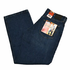 Lee Jeans Mens Relaxed Fit Dark Blue Fade Dk Denim Tapered Leg 2055542 New