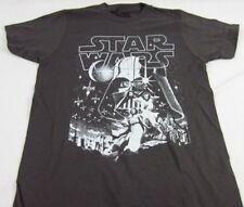 Mens NEW Star Wars Movie Darth Vader Death Star Logo Graphic T-Shirt Size S & M