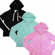 Victoria's Secret Pink Hoodie Zip Up Workout Running Track Jacket Pockets V192