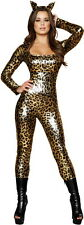 Sexy Adult Women Sexy Spotted Leopard Suit Animal Costume Halloween Outfit New