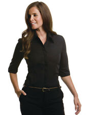 Womens Kustom Kit Shirt-Continental 3/4  Sleeve, Fitted Blouse