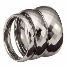 Tungsten Carbide Honeycomb Wedding Band widths 4,6, and 8mm Sizes 4.5 - 13
