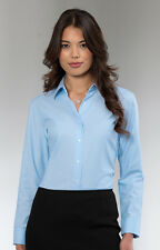 Womens Russell Shirt-Easy Care Long Sleeve, Oxford Shirt