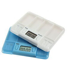 LCD Portable Digital Multi-Alarm Timer Pill Medicine Reminder Case Box Container