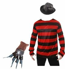 FREDDY KRUEGER Costume Cappello Maglione MASCHERA E GUANTI HALLOWEEN FANCY DRESS