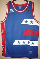 "Rucker Blue ""All-Stars"" Throwback Basketball Jersey - Stall & Dean - All Sizes"