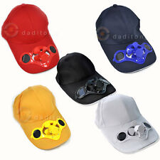 Sporting Solar Wind Power Hat Cap Cooling Cool Fan F Golf Outdoor Hiking Sports