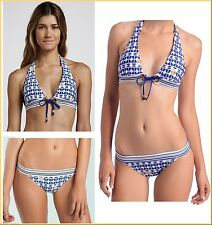 $155 Trina Turk Racquet Club Dot Print Halter Top & Banded Bottom Bikini Set