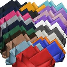NEW MENS STYLISH SQUARE SOLID SATIN WEDDING PARTY POCKET HANKY HANDKERCHIEF